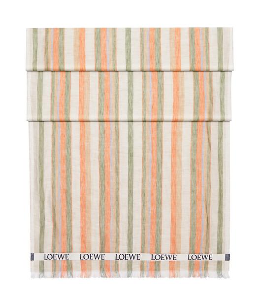 LOEWE 70X210 Scarf Loewe Stripes 多色/橘色 front