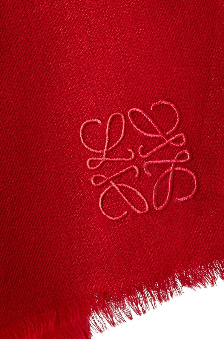 LOEWE Bufanda en cachemira Rojo pdp_rd