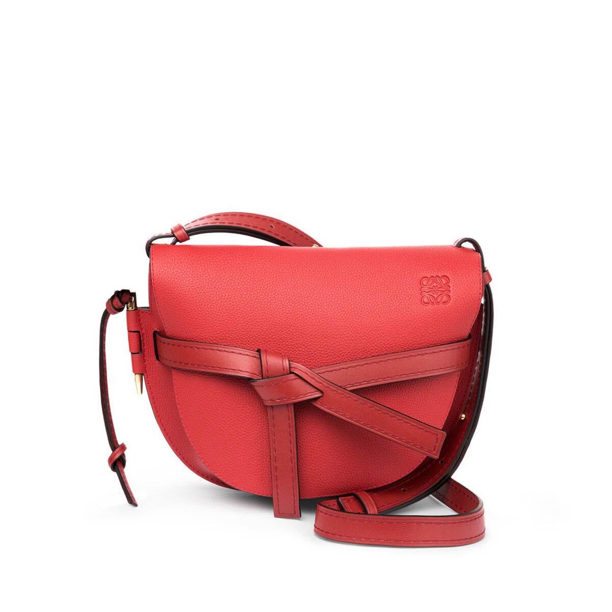 LOEWE Gate Small Bag Scarlet Red/Burnt Red front