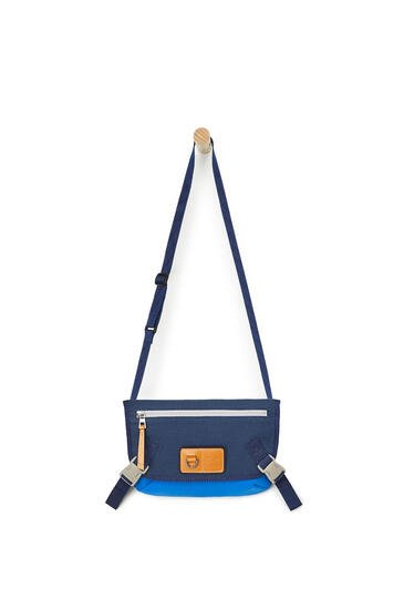 LOEWE Small Messenger Bag In Canvas Electric Blue/Navy Blue pdp_rd