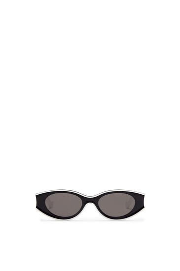 LOEWE Small sunglasses in acetate White/Black pdp_rd