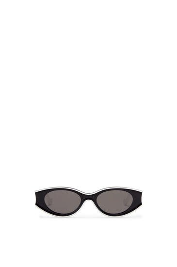 LOEWE Gafas de sol pequeñas en acetato Blanco/Negro pdp_rd