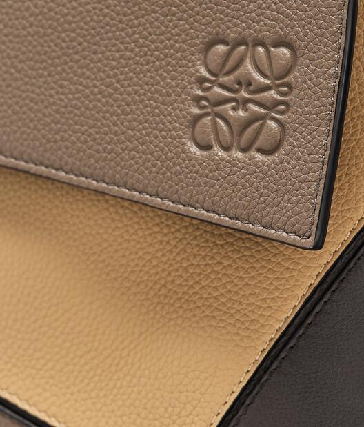 LOEWE Puzzle Messenger Bag Dark Taupe/Desert front