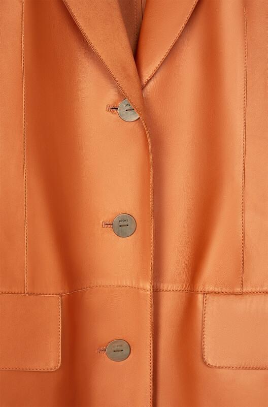 LOEWE Button Coat Cognac front