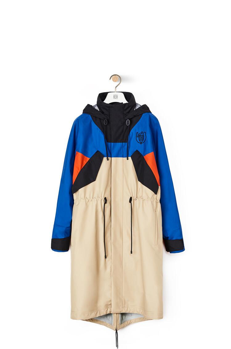 LOEWE Long parka fleece lining in nylon Blue/Beige pdp_rd