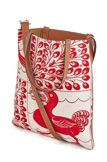 LOEWE Vertical Tote Tiles Bag レッド front