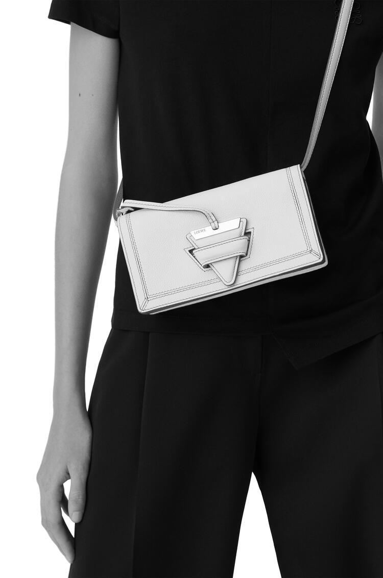 LOEWE Mini Barcelona Soft Bag In Soft Grained Calfskin Sage pdp_rd