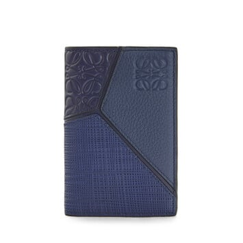 LOEWE Puzzle Bifold Card 海军蓝 front