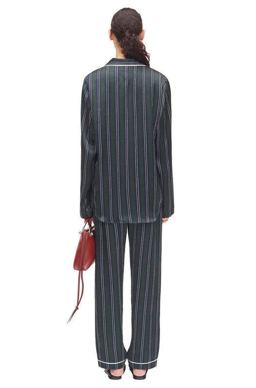 LOEWE Stripe Pyjama Trousers Verde/Marino all