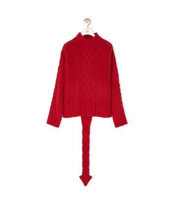 LOEWE Dragon Tail Sweater カーマイン front