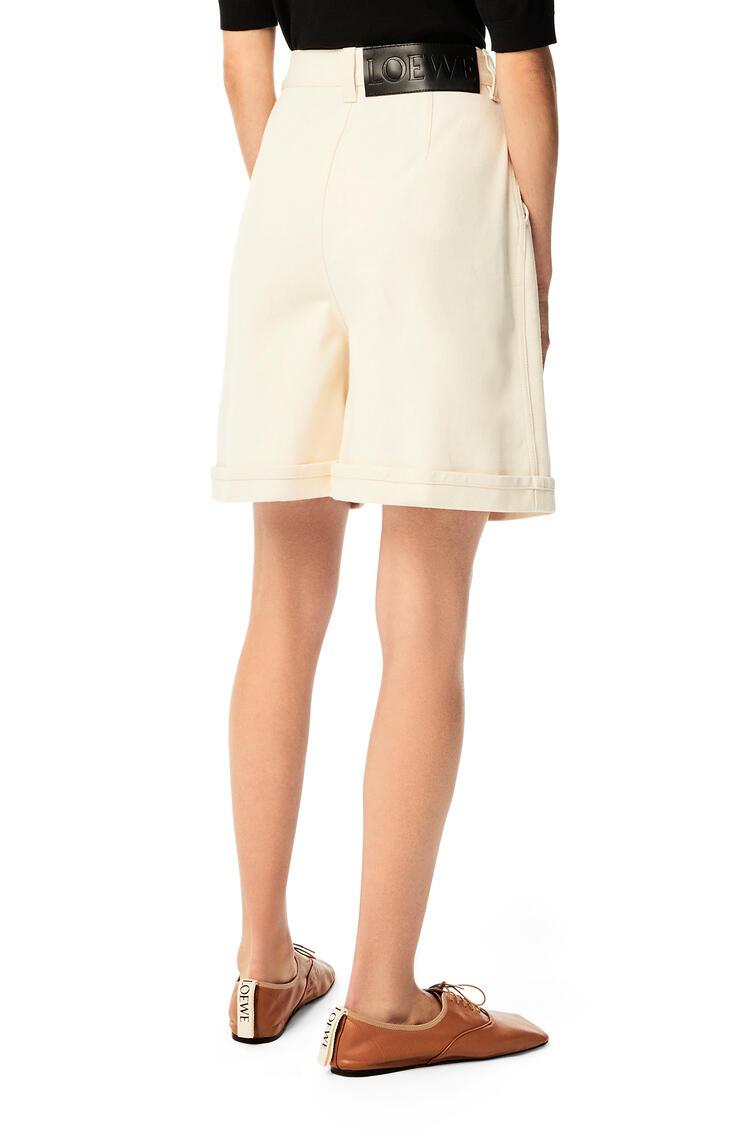 LOEWE Shorts in denim Ivory pdp_rd