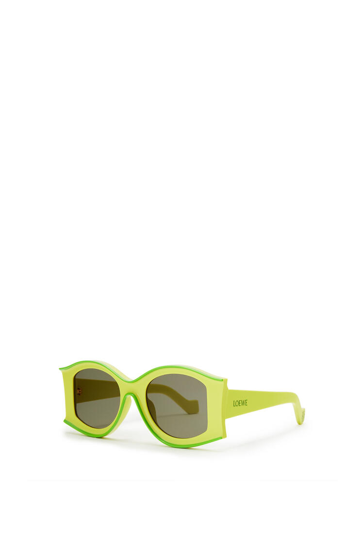 LOEWE Large Paula's Ibiza Sunglasses In Acetate Neon Yellow/Neon Green pdp_rd