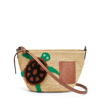 LOEWE Paula's Pochette Turtle Bag Natural/Tan front