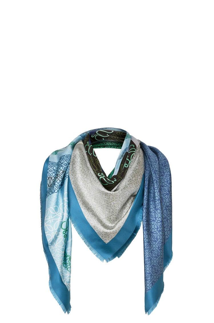LOEWE 140 x 140 cm スカーフ(シルク) ブルー/グリーン pdp_rd