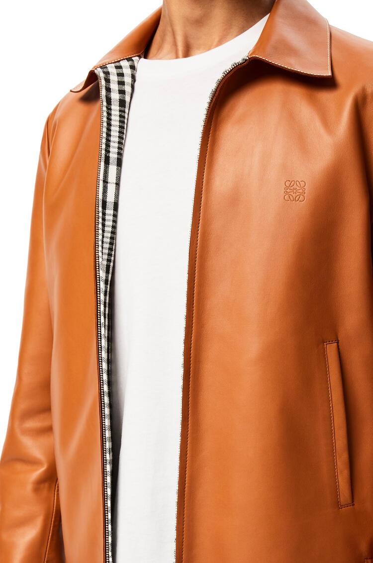 LOEWE Zip jacket in nappa 棕褐 pdp_rd