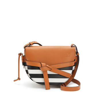 LOEWE Gate Marine Small Bag Black/White front