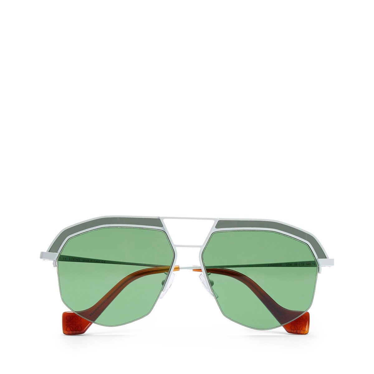 LOEWE Geometrical Sunglasses Optical White/Bright Green front