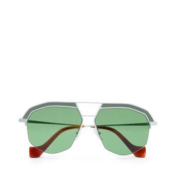 LOEWE サングラス Optical White/Bright Green front