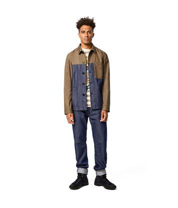 LOEWE Eln Workwear Jacket Khaki Green/Blue front