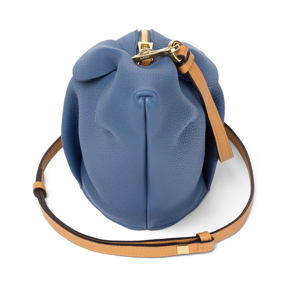 LOEWE Bunny Mini Bag Varsity Blue/Pecan Color all