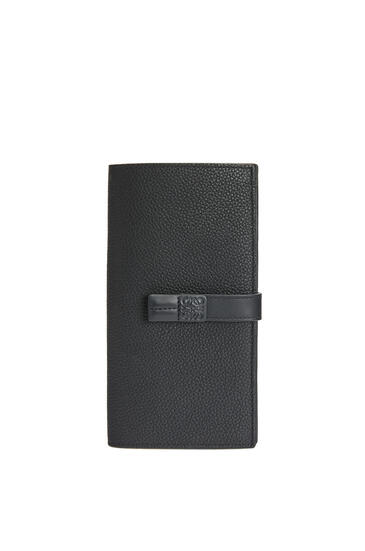 LOEWE Large vertical wallet in soft grained calfskin Black pdp_rd