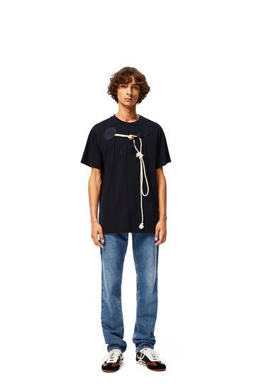 LOEWE Loewe Trim T-shirt In Cotton Navy Blue pdp_rd