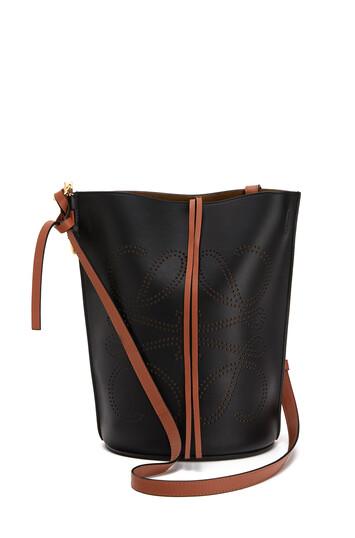 LOEWE Gate Bucket Anagram Bag Black/Tan front