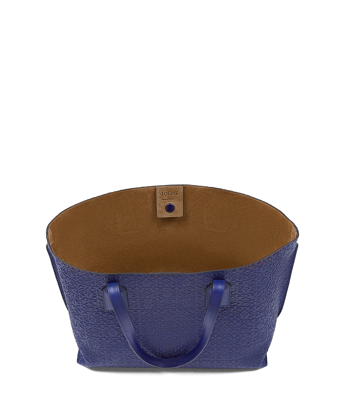 LOEWE T Shopper Bag Navy Blue all