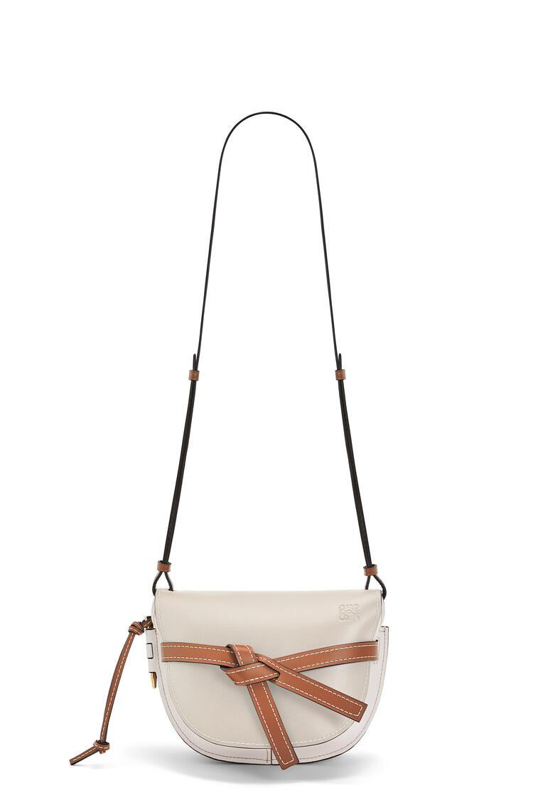 LOEWE Small Gate bag in soft calfskin 淺燕麥色/太陽白 pdp_rd