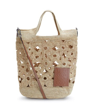 LOEWE Slit Crochet Bag Natural front