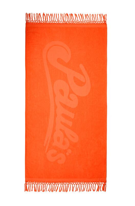 LOEWE 170Cm X 105Cm Loewe Towel With Tassels In Cotton Fluo Orange front