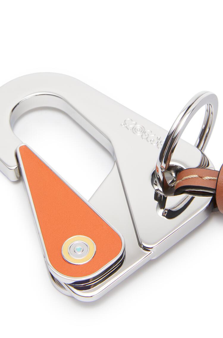 LOEWE Big Charm big in calfskin Orange/Tan pdp_rd