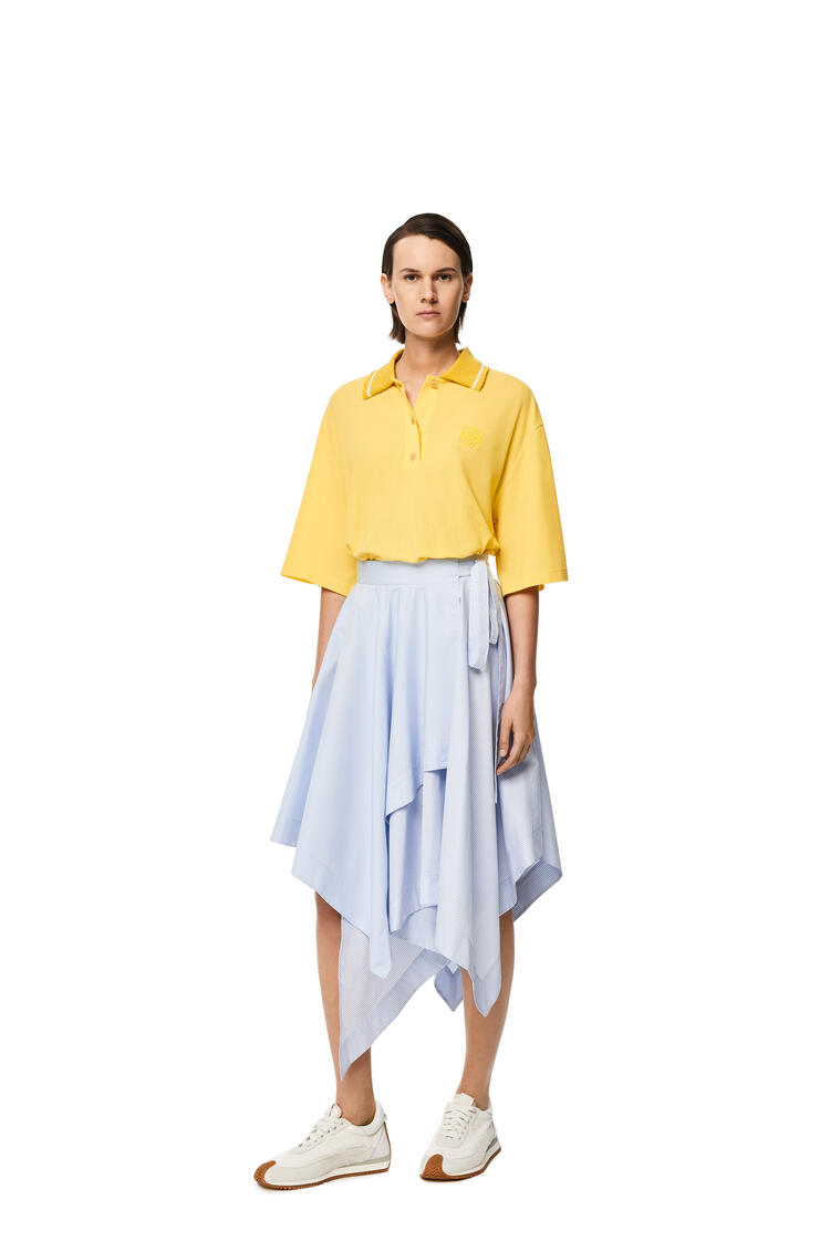 LOEWE Wrap skirt in cotton White/Blue pdp_rd