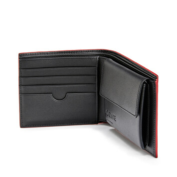 LOEWE Brand Bifold Coin Wallet Black front