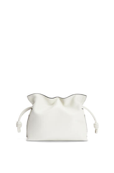 LOEWE Mini Flamenco clutch in nappa calfskin Soft White pdp_rd