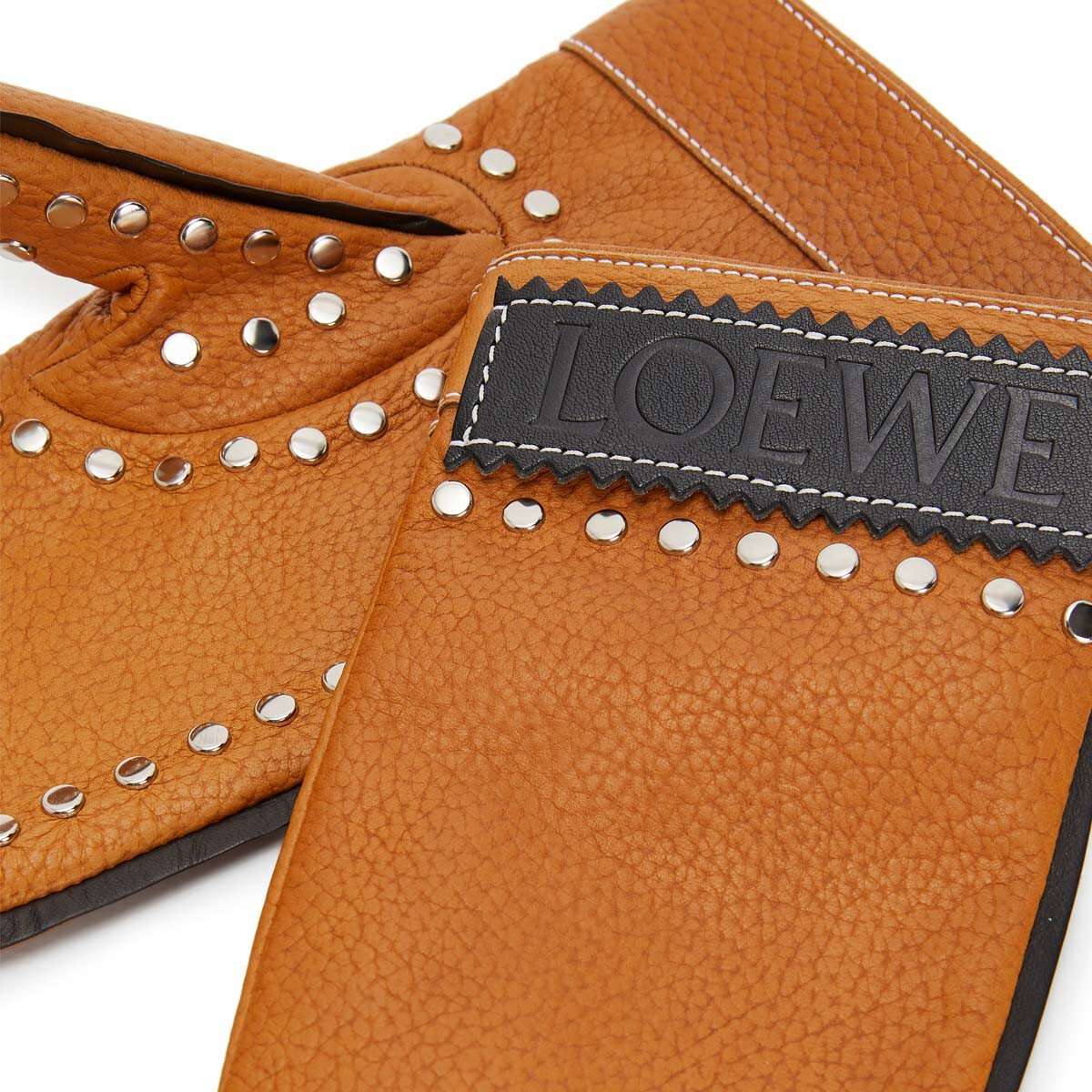 LOEWE Moufle Gloves タン front