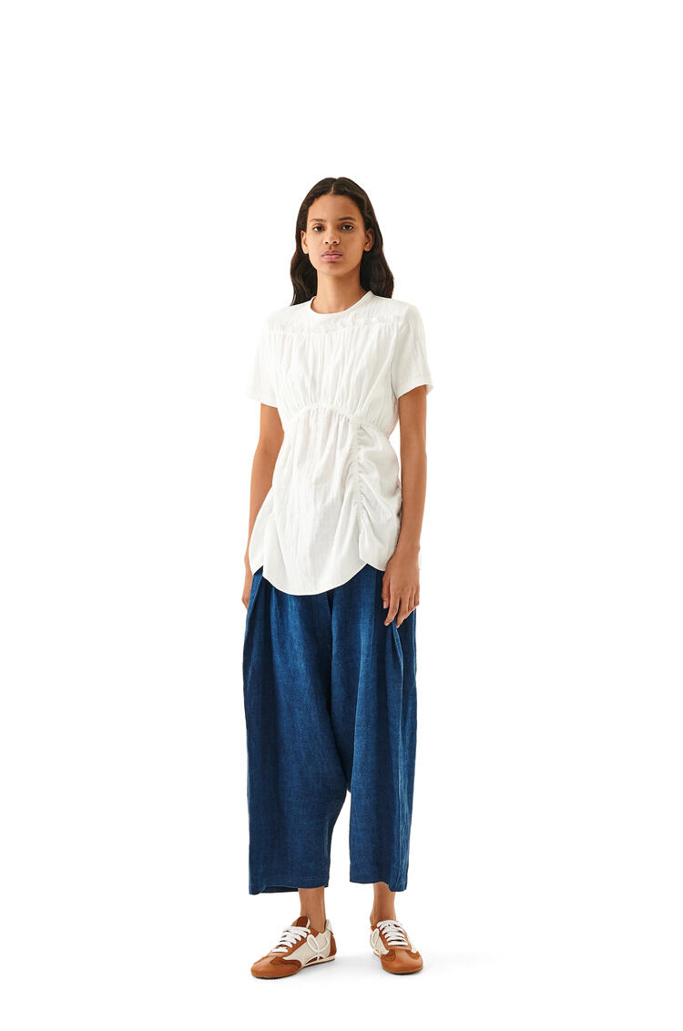 LOEWE Gathered Top In Cotton White pdp_rd