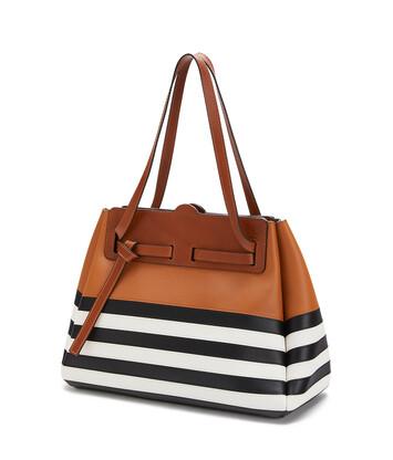 LOEWE Lazo Shopper Marine 黑色/白色 front