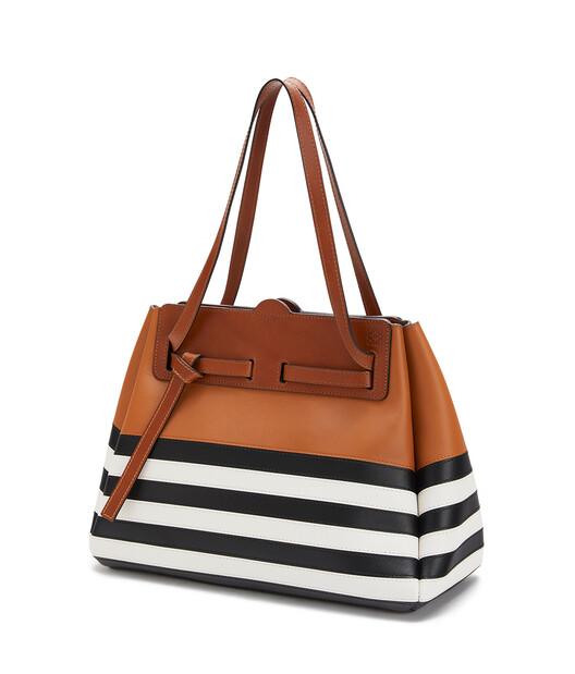 LOEWE Lazo Shopper Marine Black/White front