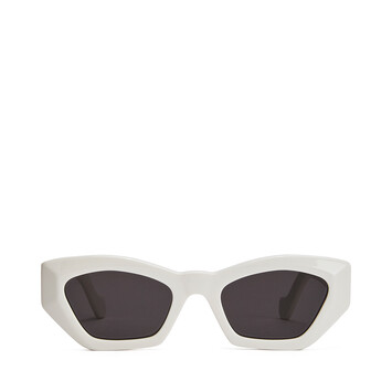 LOEWE Geometric Cateye Sunglasses White/Smoke front