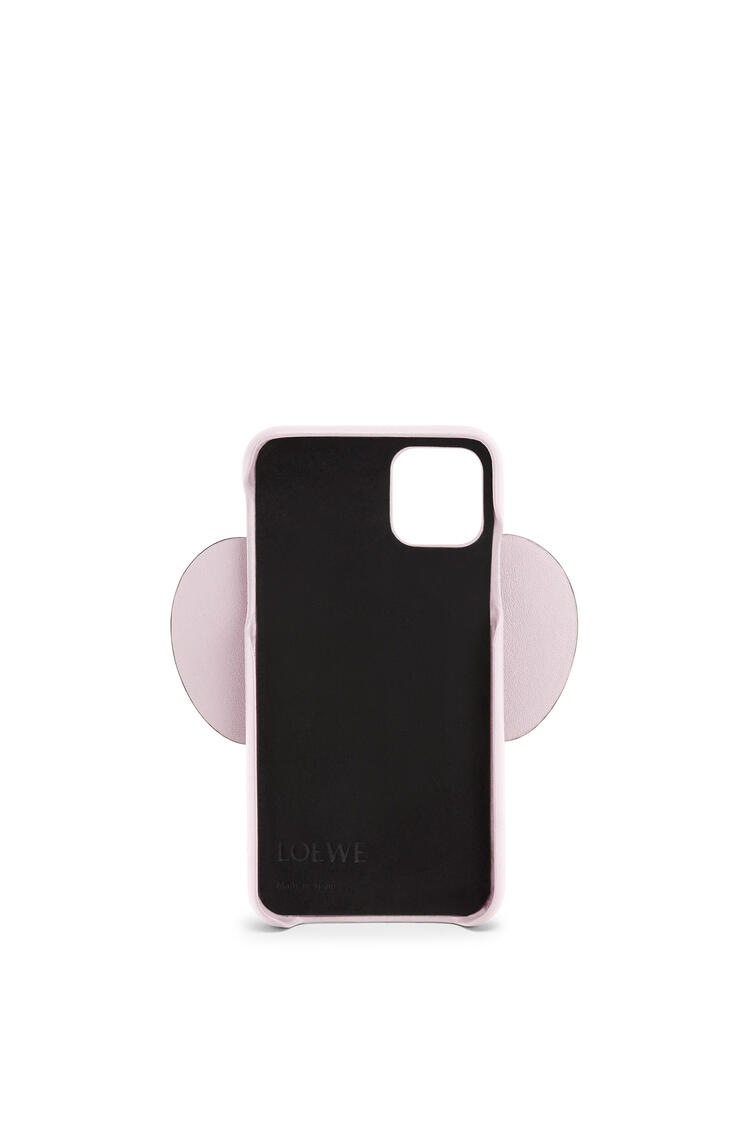 LOEWE Elephant cover for iPhone 11 in pearlized calfskin Icy Pink pdp_rd