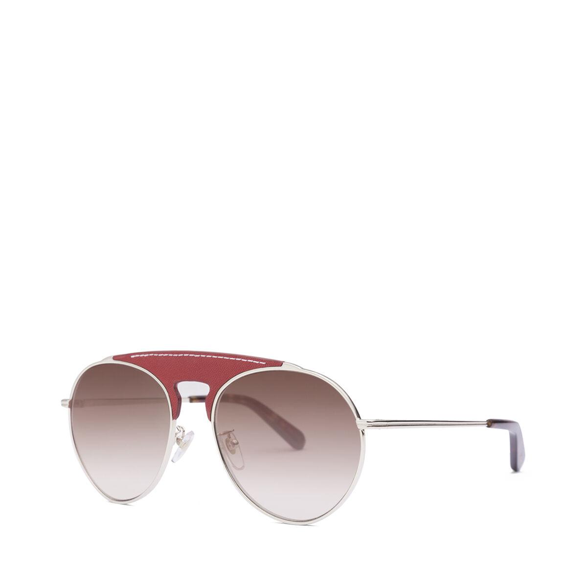 LOEWE Gafas Piloto Rojo/Marron Degradado front