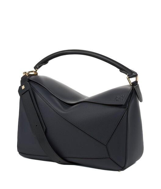 LOEWE Puzzle Large Bag Midnight Blue/Black front