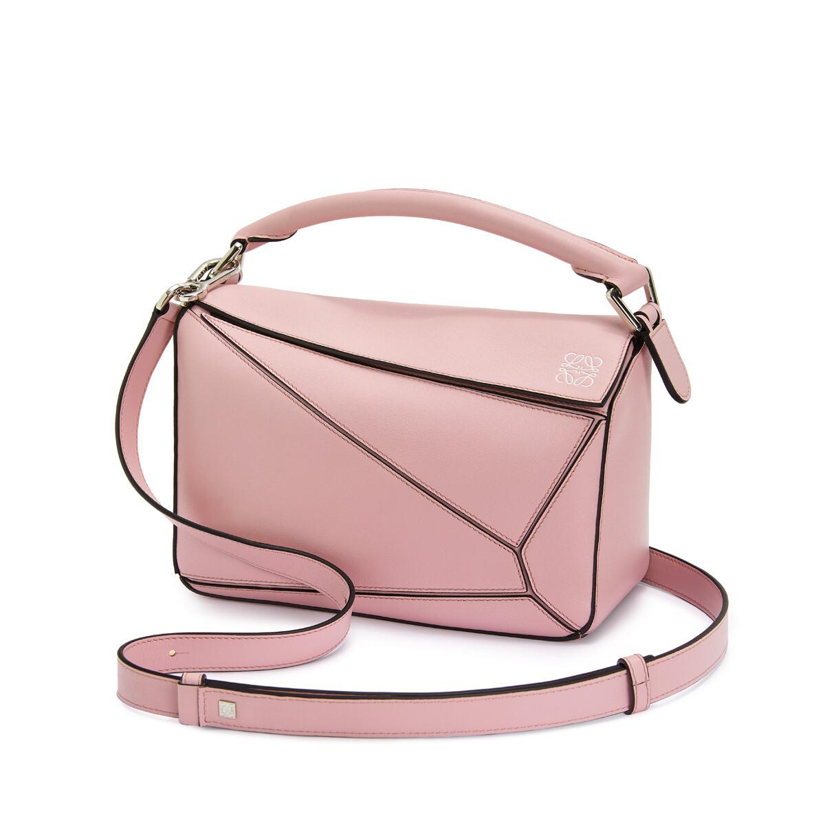 LOEWE パズルスモールバッグ Pastel Pink front