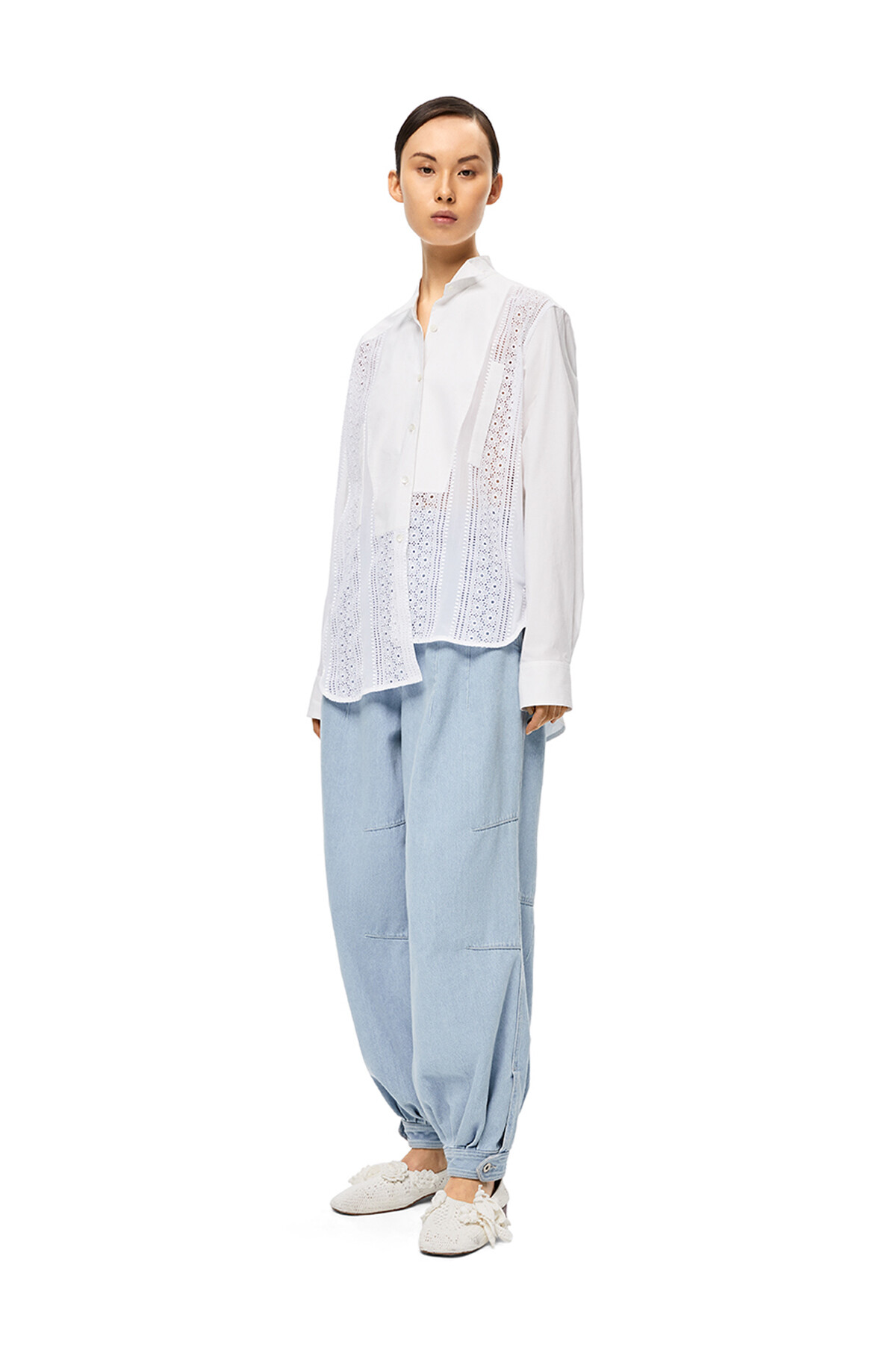 LOEWE Balloon Denim Trousers Light Blue front