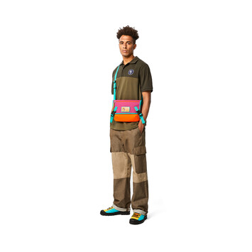 LOEWE Eye/Loewe/Nature Messenger Small Bag Violet/Orange front