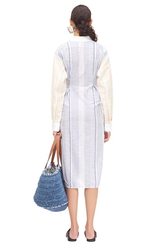 LOEWE Stripe Shirtdress Azul/Blanco all
