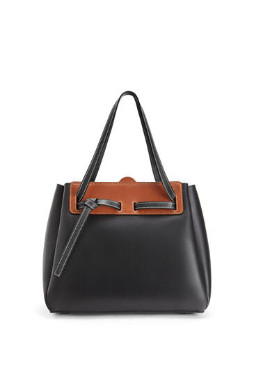 LOEWE Lazo shopper bag in natural calfskin Black pdp_rd