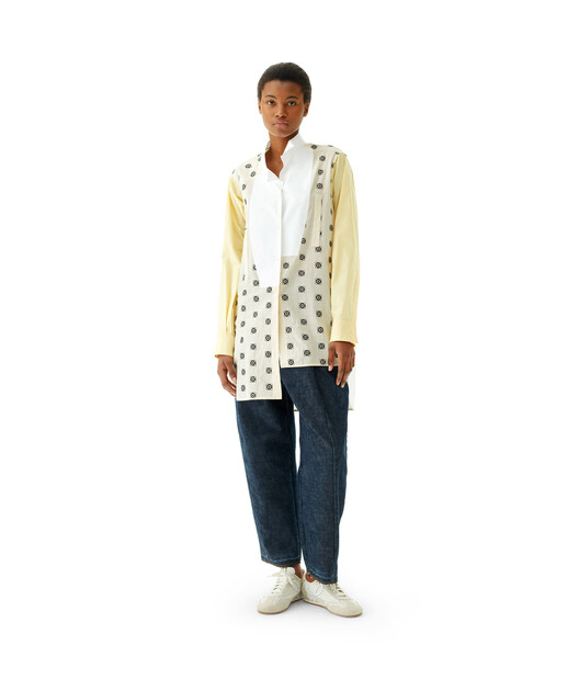 LOEWE Long Asym Shirt Broderie Yellow/White front