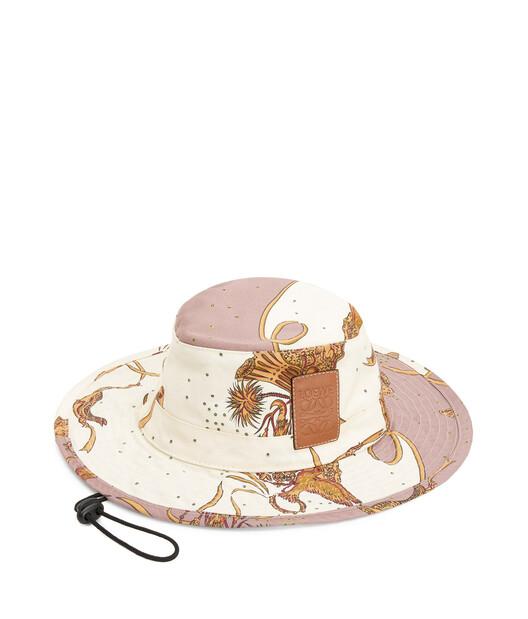 LOEWE Paula Safari Hat White/Lilac front